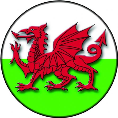 WELSH DRAGON FLAG 4x4 Spare Wheel Cover DECAL STICKER